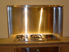 stainless steel kitchen splashbacks