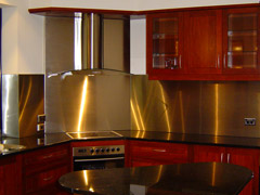 stainless steel splashbacks for kitchens